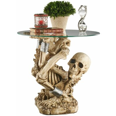 Design Toscano The Contortionist Skeleton End Table