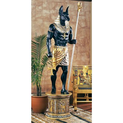 Grand Ruler Life-Size Anubis Statue by Design Toscano