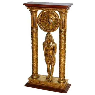 Egyptian Royal Temple of Amun Clock Statue by Design Toscano
