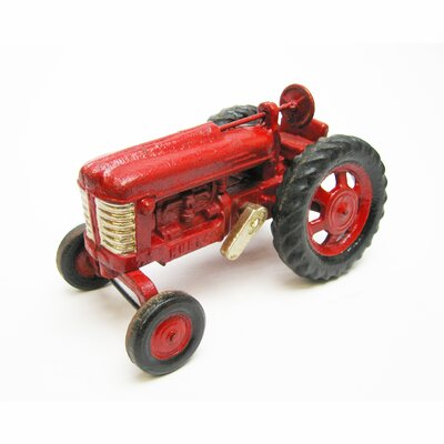 Big Red Replica Cast Iron Farm Toy Tractor Sculpture by Design Toscano