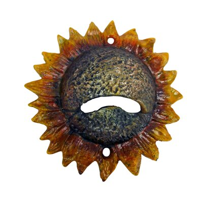 Sunny Sunflower Bottle Opener by Design Toscano