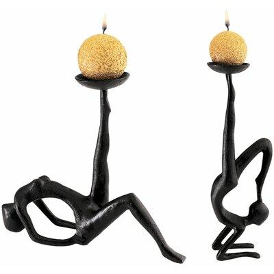 Les Acrobates Sculptural 2 Piece Candleholder