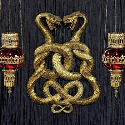 Design Toscano Egyptian Infinity Cobra Twins Wall Décor