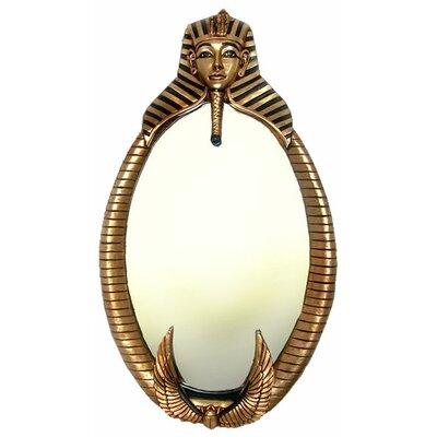 The Spirit of Tutankhamen: Egyptian Wall Sculpture Mirror by Design Toscano