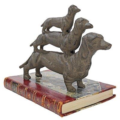 Design Toscano Stacked Hot Dogs Dachshund Figurine