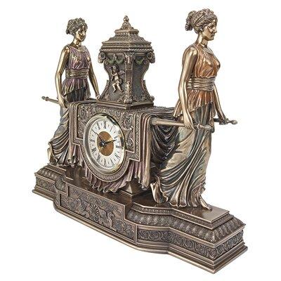 Versailles Maidens Sculptural Mantel Clock by Design Toscano