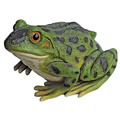 Ribbit the Frog and Garden Toad Statue by Design Toscano