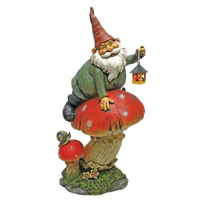 Design Toscano Tesla with the Lamp Garden Gnome Statue