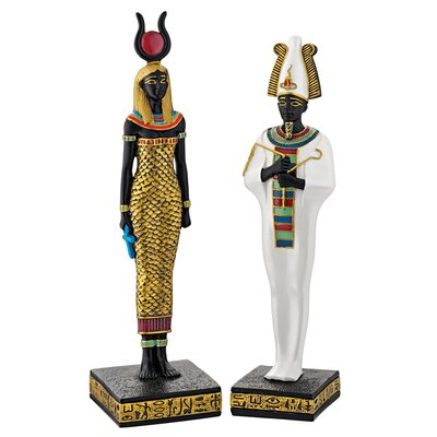Design Toscano 2 Piece Osiris and Hathor Deities of Ancient Egypt Statue Set