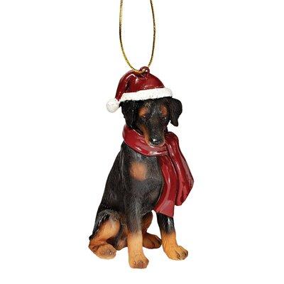 Design Toscano Doberman Holiday Dog Ornament