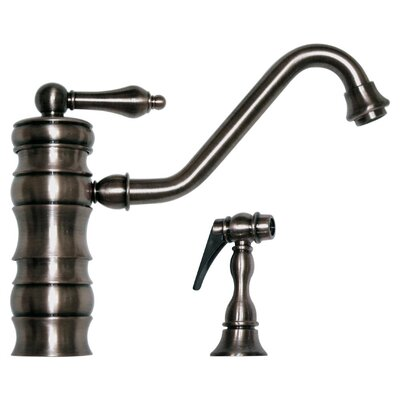 vintage iii one handle single hole kitchen faucet with side spray by