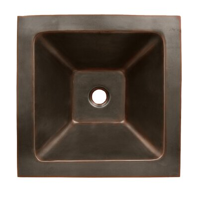 Copperhaus Square Bathroom Sink by Whitehaus Collection