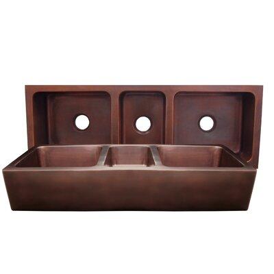 "Copperhaus 53"" x 19"" Large Triple Bowl Undermount Farmhouse Kitchen Sink Product Photo"