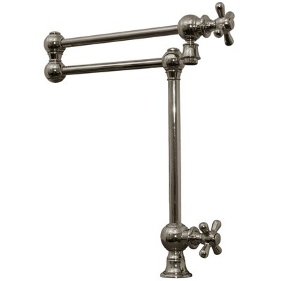 Whitehaus collection vintage iii patented deck mount two - Single hole cross handle bathroom faucet ...