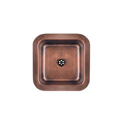 "Copperhaus 15"" x 15"" Square Drop-In / Undermount Bar Sink Product Photo"