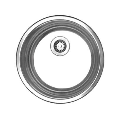 "Whitehaus Collection Noah 12.75"" x 12.75"" x 5.13"" Single Bowl Round Drop In Bar Sink"