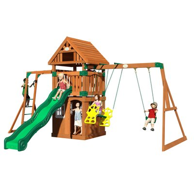 Castle Peak All Cedar Swing Set Product Photo
