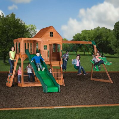 Backyard Discovery Woodridge Ii All Cedar Swing Set Set 6815 Vpe1070