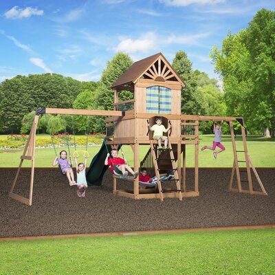 Oceanview All Cedar Swing Set Product Photo