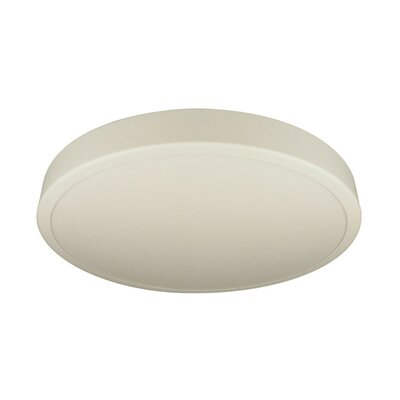 Deco Lighting Ronde Series Two Light Flush Mount with White Acrylic Diffuser in Matte White