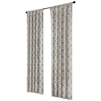 Madison Park Delray Diamond Rod Pocket Curtain Panel