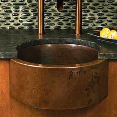 "19"" x 19"" Fiesta Copper Bar Sink Product Photo"