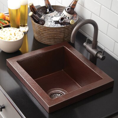 "17"" x 15"" Manhattan Copper Bar Sink Product Photo"
