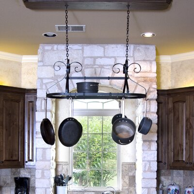 Ornamental Expandable Oval Hanging Pot Rack by Advantage Components