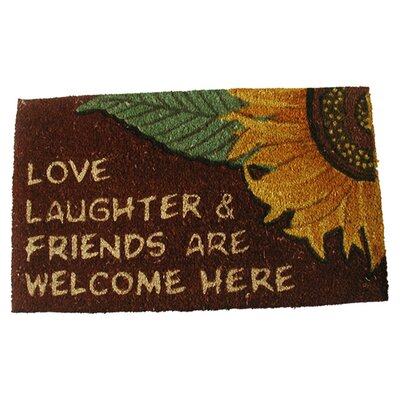 Love Laughter Doormat by Geo Crafts