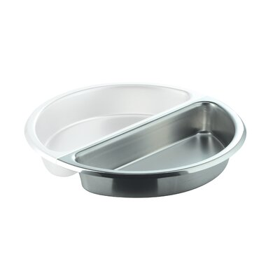 Large Round 1 / 2 Stainless Steel Food Pan by SMART Buffet Ware