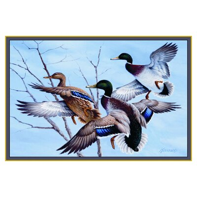 Custom Printed Rugs Wildlife Mallards Novelty Outdoor Area Rug