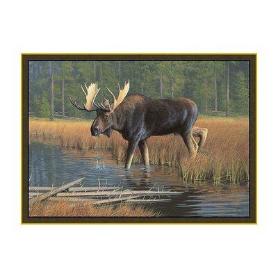 Custom Printed Rugs Wildlife Moose Novelty Outdoor Area Rug