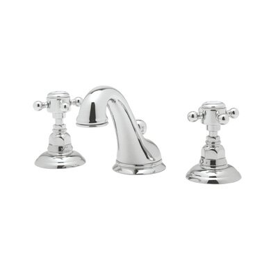 Rohl A1408XM-2 Country Bath Low Lead Widespread Bathroom Faucet with Pop-Up Drain and Metal Cross Handles Product Photo