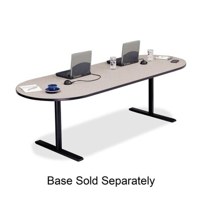"""Bretford Manufacturing Inc Racetrack Conference Table,42""""x120""""x29"""",Gray Nebula"""