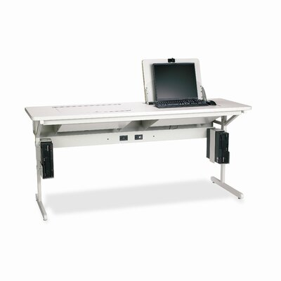 "Bretford Manufacturing Inc Connections SmartDeck 72"" W x 24"" D Training Table"