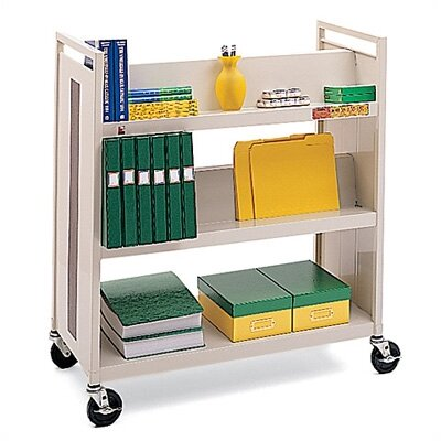 Bretford Manufacturing Inc Metal Double-Side Book Cart