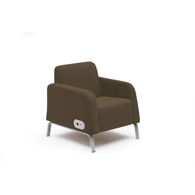 Bretford Manufacturing Inc Motiv Lounge Chair with Power on Left