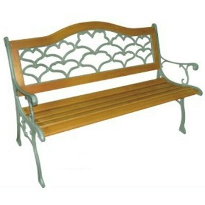 DC America Sea Shell Wood and Cast Iron Park Bench