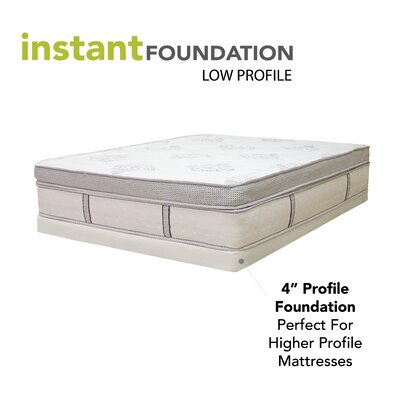 classic brands 4 low profile instant foundation box spring for bed mattress reviews wayfair. Black Bedroom Furniture Sets. Home Design Ideas