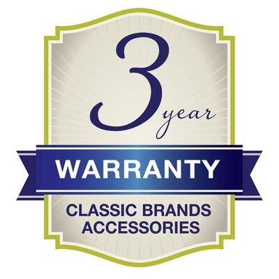 """Classic Brands 2"""" Memory Foam Mattress Topper with Removable Velour Cover"""