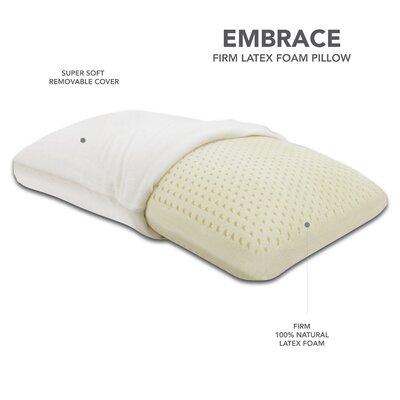 Classic Brands Embrace Firm Latex Pillow, 100 Percent Ventilated Latex Foam