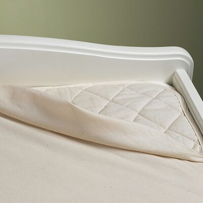 Natural Waterproof 3-Ply Flat Crib Pad by BargooseHomeTextiles