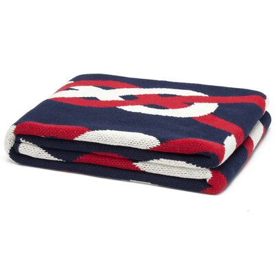 Eco Designer Sailor Knots Throw Blanket by In2Green