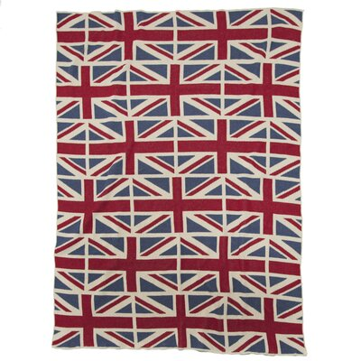 Eco Designer Vintage Union Jack Throw Blanket by In2Green