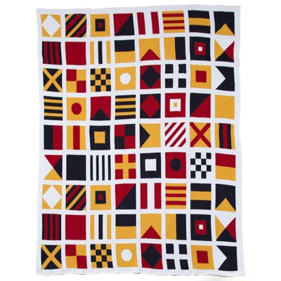Eco Designer Nautical and Signal Flags Throw Blanket by In2Green