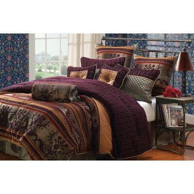 Petra 10 Piece King Comforter Set by Hallmart Collectibles