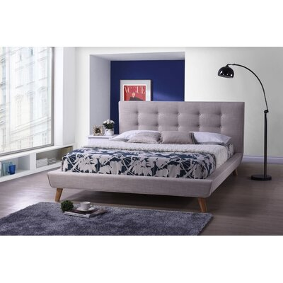 Baxton Studio Jonesy Upholstered Platform Bed by Wholesale Interiors