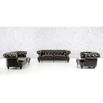Divani Casa 3 Piece Italian Leather Sofa Set by VIG Furniture