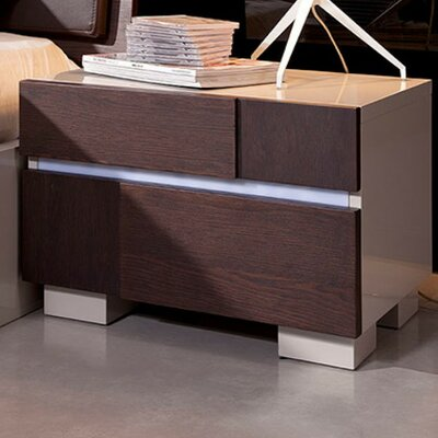 Modrest Anzio 2 Drawer Nightstand by VIG Furniture