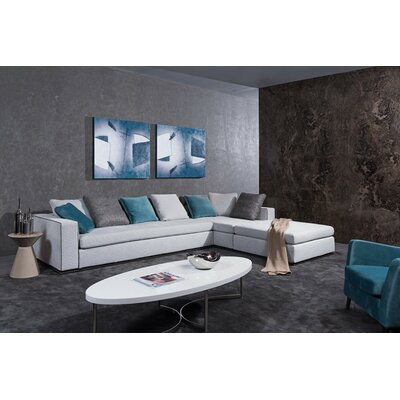 Divani Casa Whitley Modern Sectional Sofa with Ottoman by VIG Furniture